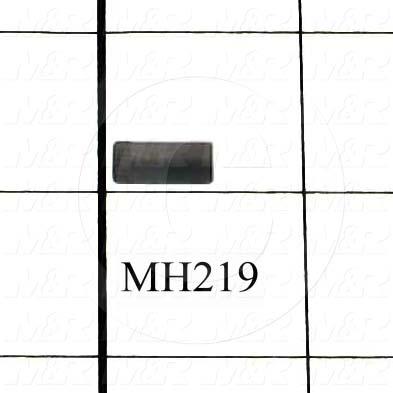 "Pin, Dowel Pin, 0.203"" Diameter, 0.50 in. Overall Length, Steel Drill Rod Material, Plain Finish"