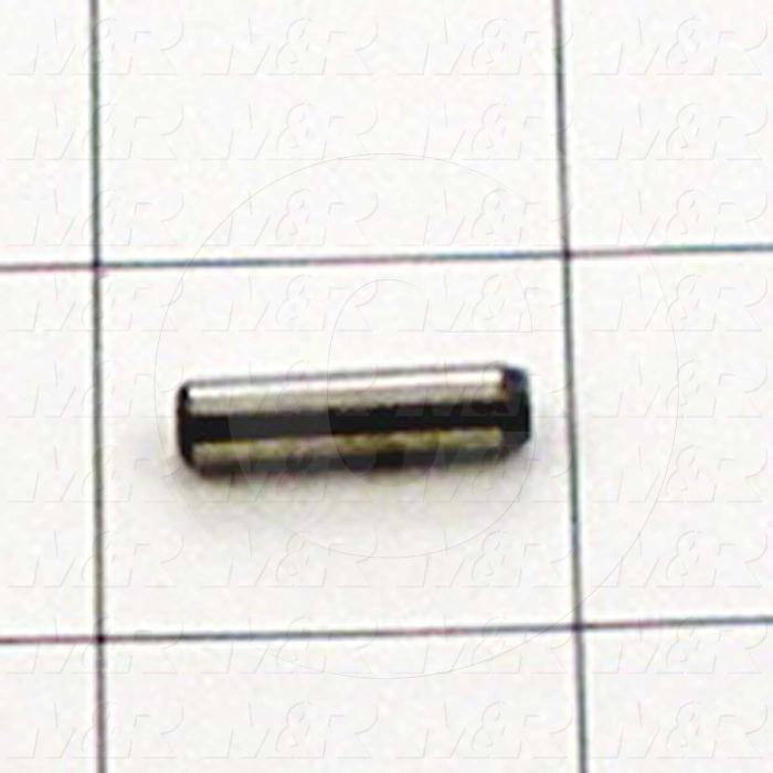 "Pin, Dowel Pin, ANSI, 0.19 in. Diameter, 0.750"" Overall Length, Alloy Steel Material"