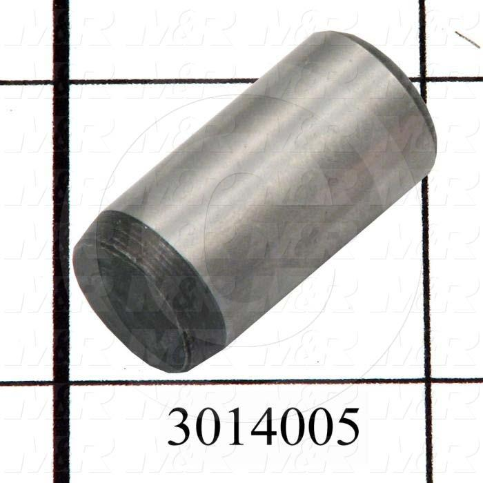 "Pin, Dowel Pin, ANSI, 0.50 in. Diameter, 1.00"" Overall Length"