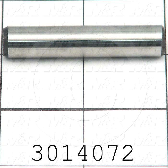 "Pin, Dowel Pin, Iso, 10 mm Diameter, 2.80"" Overall Length, Alloy Steel Material"