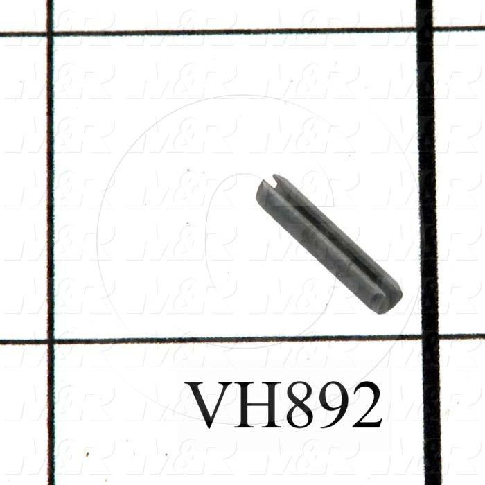 "Pin, Roll Pin, 0.094"" Diameter, 0.50 in. Overall Length, Steel Material"