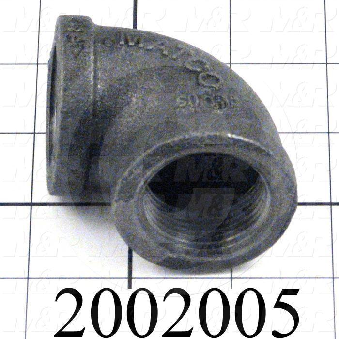 "Pipe Fittings & Connectors, 90 deg Elbow Type, 1"" NPT Pipe Size, Cast Iron Material"