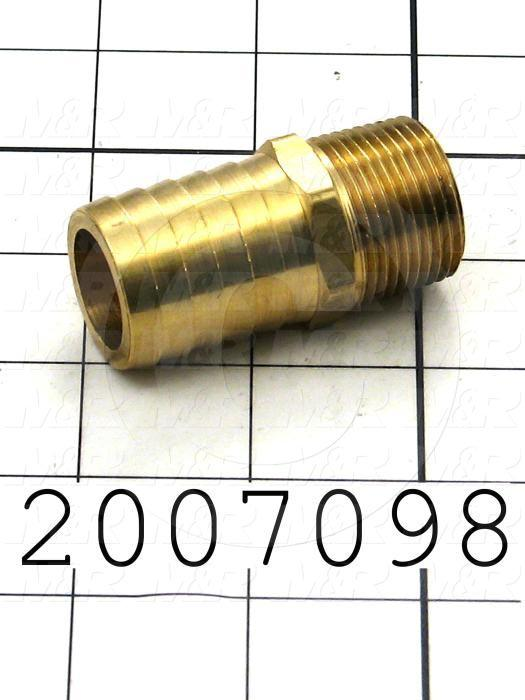 "Pipe Fittings & Connectors, Adapter Thread - Pipe Type, Brass Material, A x B 3/4"" ID x 3/4"" NPT"