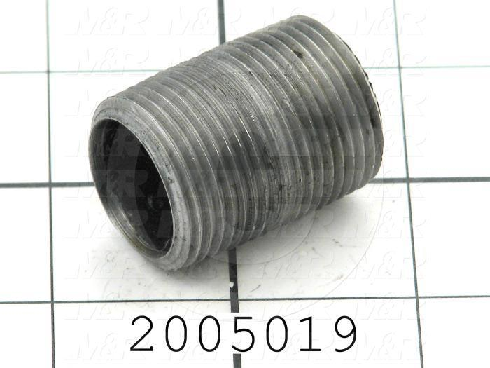 "Pipe Fittings & Connectors, Adapter Type, Black Steel Material, A x B 3/4"" NPT x 3/4"" NPT"