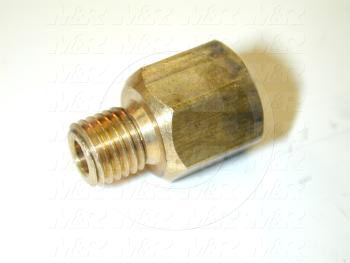 "Pipe Fittings & Connectors, Adapter Type, Brass Material, M8 x 1/8"" NPT Male x Female"