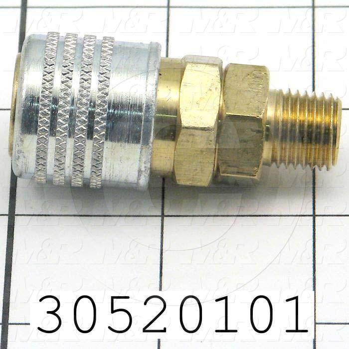 Pipe Fittings & Connectors, Coupling Type, 1/4 NPT Pipe Size, Metal Material - Details
