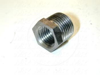 "Pipe Fittings & Connectors, Reducing Bushing Type, Black Steel Material, 3/8"" x 1/4"" Male x Female"