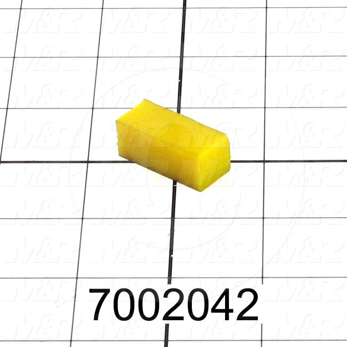 "Plastic, Polycarbonate Material, 1/2"" Width, 1/2"" Hight, #40A Durometer Yellow"