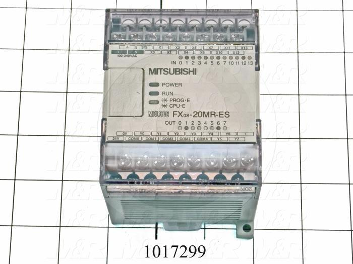 PLC, FX0S, 20 I/O, 12 Inputs, 24VDC Sink/Source, 8 Outputs, Relay