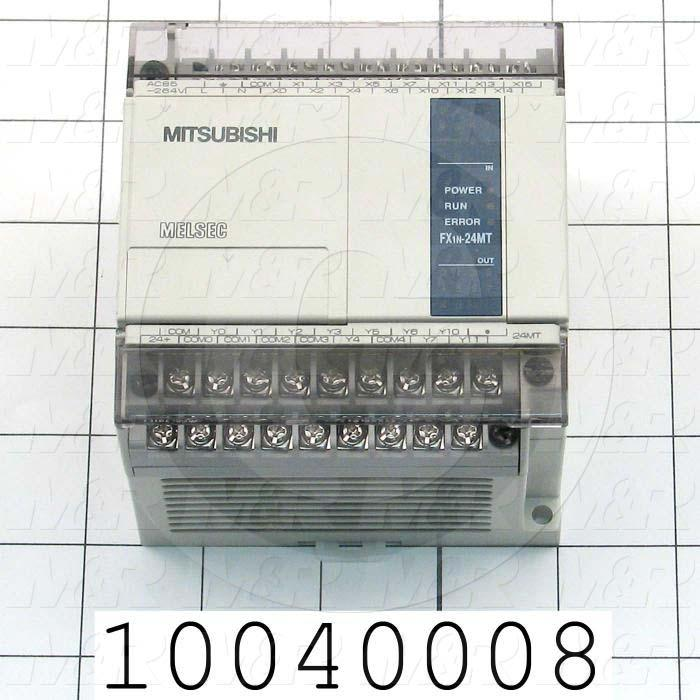 PLC, FX1N, 24 I/O, 14 Inputs, 10 Outputs, Transistor