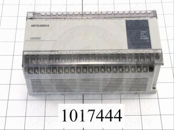 PLC, FX1N, 60 I/O, 36 Inputs, 24 Outputs, Relay