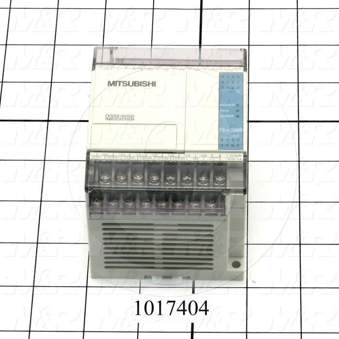 PLC, FX1S, 20 I/O, 12 Inputs, 8 Outputs, Relay
