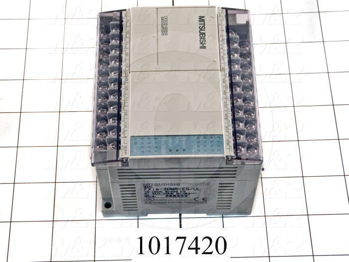 PLC, FX1S, 30 I/O, 16 Inputs, 14 Outputs, Relay