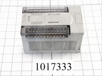 PLC, FX2N, 32 I/O, 16 Inputs, 24VDC Sink/Source, 16 Outputs, Relay, 100-240VAC