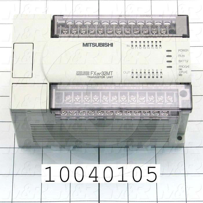 PLC, FX2N, 32 I/O, 16 Inputs, DC Sink In, 16 Outputs, Transistor Sink Out