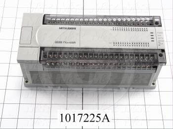 PLC, FX2N, 64 I/O, 32 Inputs, 24VDC Sink/Source, 32 Outputs, Relay