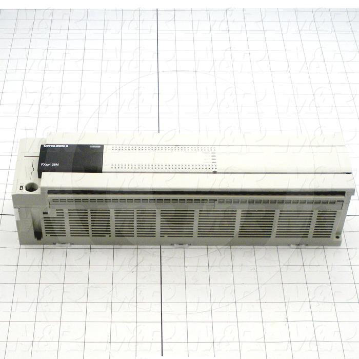 PLC, FX3U, 128 I/O, 64 Inputs, DC, 64 Outputs, Transistor, 100-240VAC