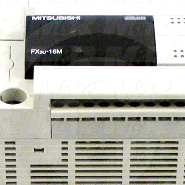 PLC, FX3U, 16 I/O, 8 Inputs, DC Sink In, 8 Outputs, Transistor