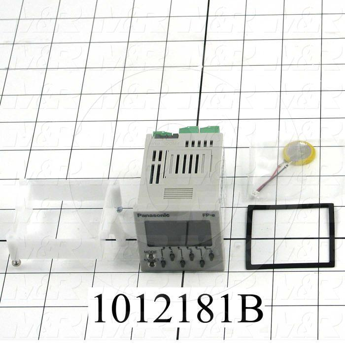 PLC/HMI Controller, FP Series, 24VDC, 6 DC Inputs, 1 Thermocouple Input, 6 Output(s), -30-740C, RS232C