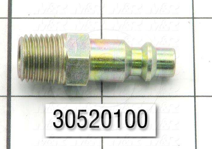 "Plug, Coupler Type, 1/4"" NPTF Thread Size, Male Mounting Option"