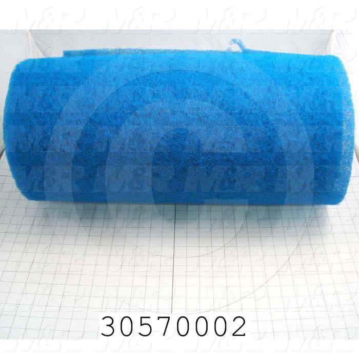 "Polyester Fiber/Filter, Rigid Type, 25"" Width, 144"" Length, 0.50 in. Thickness, Used For Omni Bagger Filter Notes"