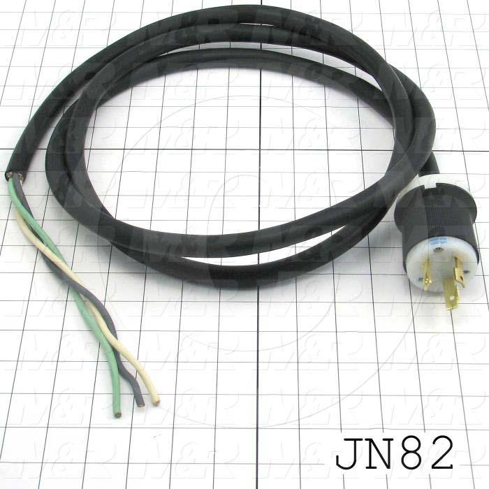 """Power Cord, 96"""", 3 Conductors, 12AWG"""