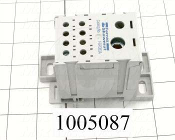 Power Distribution Block, 1 Pole, 1 Line Connection/Pole, 2/0-14AWG Line Wire Range, 8 Load Connection/Pole, 2-14AWG Load Wire Range, 310A