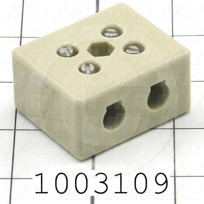 Power Distribution Block, Ceramic, 2 Poles, 5000VAC, 1000ºC