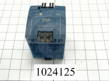 Power Supply, 100-240VAC Input Voltage, 1A Input Current, 100W, 24VDC Output Voltage, 4.0A Output Current
