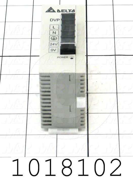 Power Supply, 100-240VAC Input Voltage, 24W, 24VDC Output Voltage, 1A Output Current