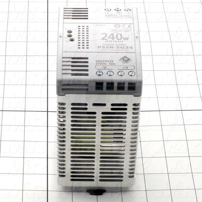 Power Supply, 100-240VAC Input Voltage, 3.5A Input Current, 240W, 24VDC Output Voltage, 10A Output Current