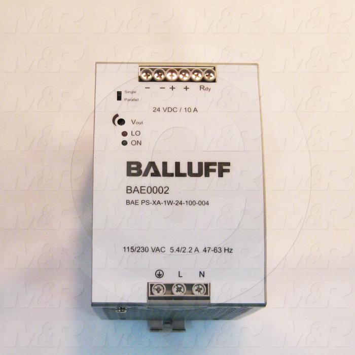 Power Supply, 115-230VAC Input Voltage, 5.4-2.2A Input Current, 24VDC Output Voltage, 10A Output Current, For Use With UV LED