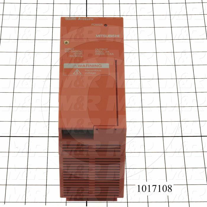 Power Supply for PLC, A series, 100-240VAC Input Voltage, 5VDC/24VDC Output Voltage, 3A/0.6A Output Current