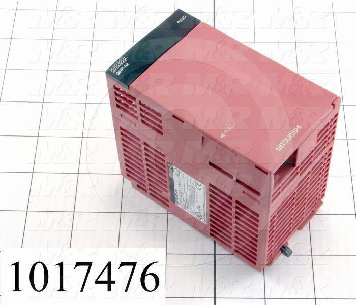 Power Supply for PLC, Q Series, 200-240VAC Input Voltage, 5VDC Output Voltage, 6A Output Current