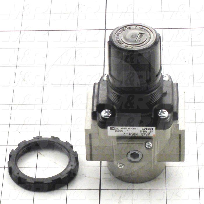 "Pressure Regulator, 1.0 MPa Max. Pressure, 3/4"" NPT Port In, Bracket & Panel Mounting, 3/4"" NPT Port Out"