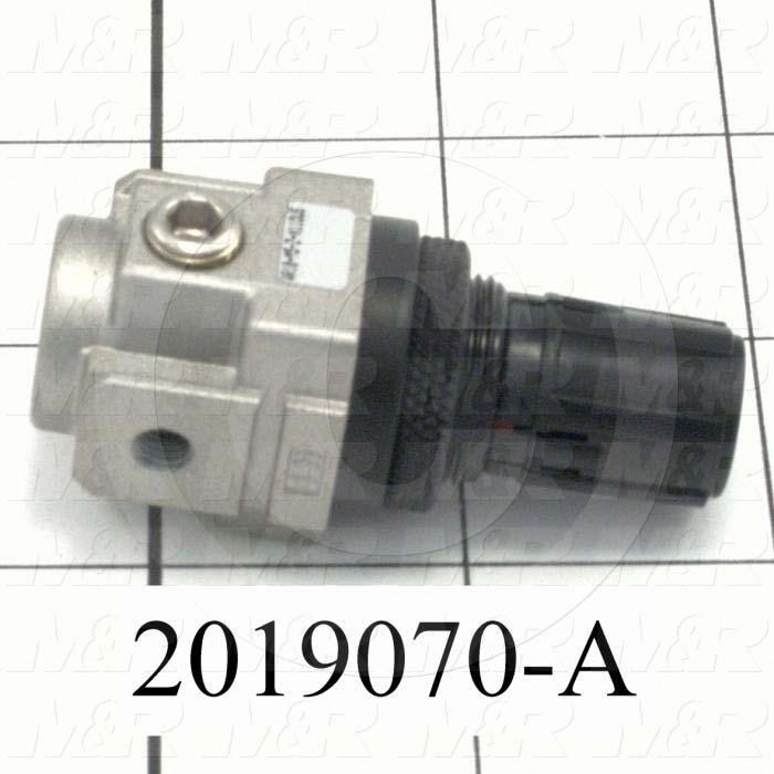 Pressure Regulator, 1.0 MPa Max. Pressure, M5 Port In, Panel Mounting, M5 Port Out