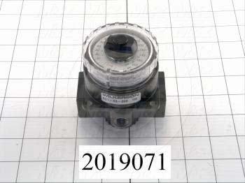 "Pressure Regulator, 300 Psi Max. Pressure, 3/8"" NPT Port In, Any Position Mounting, 3/8"" OD Port Out"