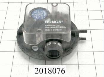 Pressure Regulators/Switches, Max. Pressure 20wc, Pressure Range .08-.60wc, Contact ratings 120V 5AMP - Details