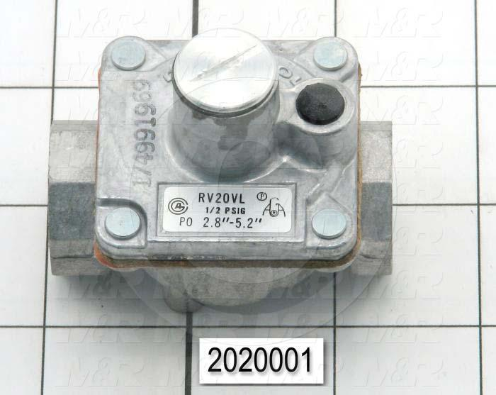 "Pressure Regulators/Switches, Thread Size 1/4"" NPT, Max. Pressure 0.5 Psi, Pressure Range 2.8-5.2""wc"