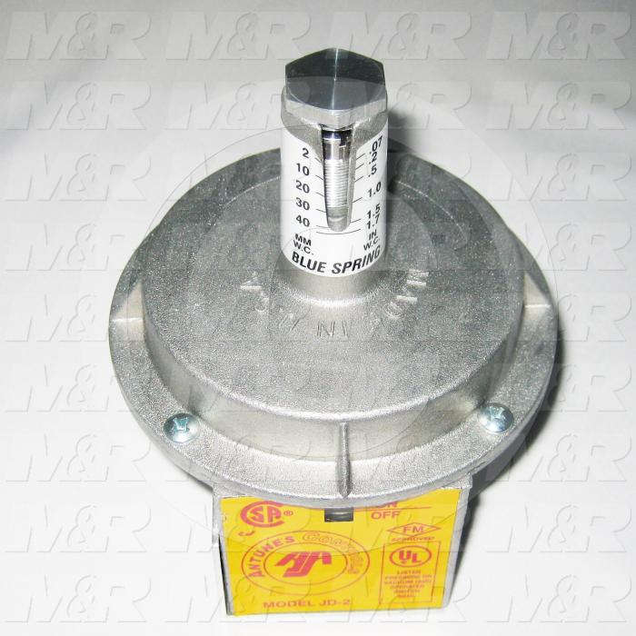 "Pressure Regulators/Switches, Thread Size 1/8"" NPT, Max. Pressure 3.0 Psi, Pressure Range .07-1.7""wc, Contact ratings 250V 5AMP"