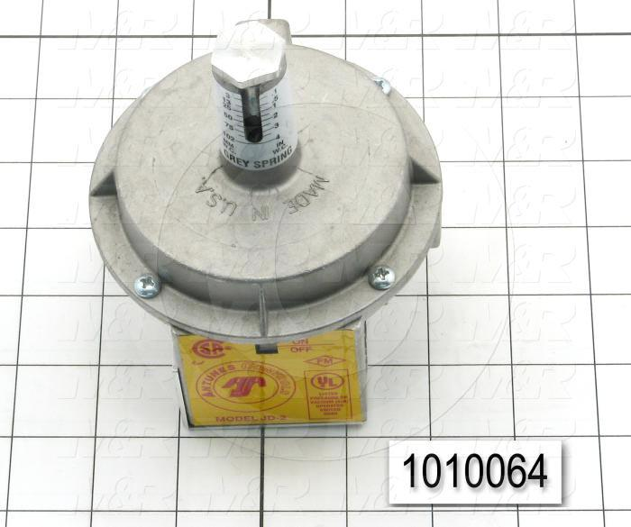 "Pressure Switch, 0.1"" WC Minimum Pressure, 4"" WC Maximum Pressure"