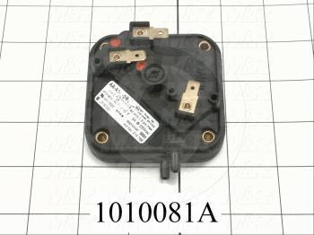 "Pressure Switch, Combination High and Low Gas, 0.16"" WC Minimum Pressure, 1.2"" WC Maximum Pressure"