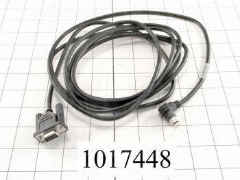 Programming Cable, 3m, PC Serial to Serial, Female DB9, To Mini-Din5, Use For Pan. Touch Panels