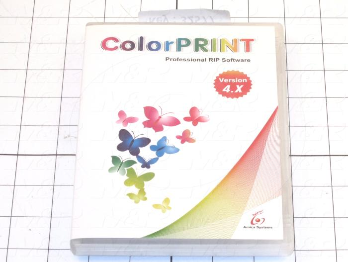 Programming Software, ColorPRINT RIP-Amica, RIP DISC AND SECURITY DONGLE   SOFTWARE