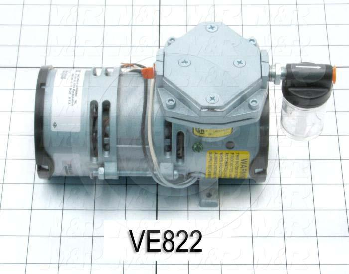 "Pump, Type: Electromechanical, Max. Vacuum: 24""Hg"