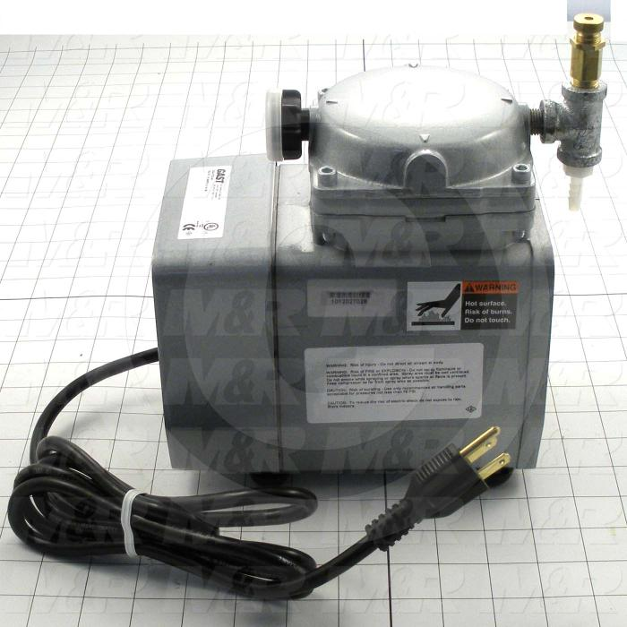"Pump, Type: Electromechanical, Max. Vacuum: 25.5""Hg, Note: This Is A Vacuum Pump Assembly"