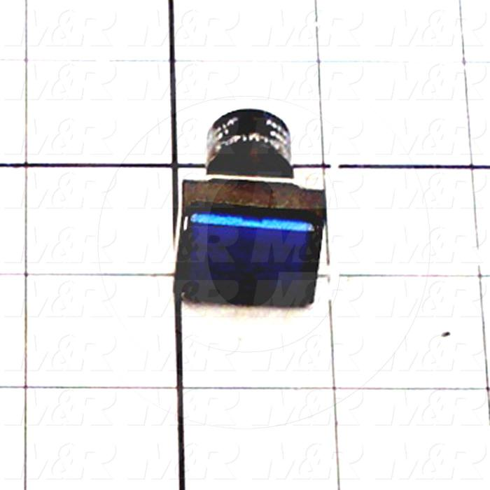 Pushbutton Switch, Momentary, Rectangle, Blue, SPDT, Incandescent, 24V
