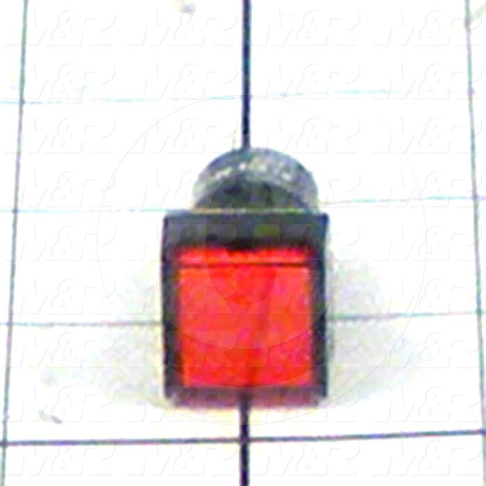 Pushbutton Switch, Momentary, Square, Red, SPDT, LED, 24VDC