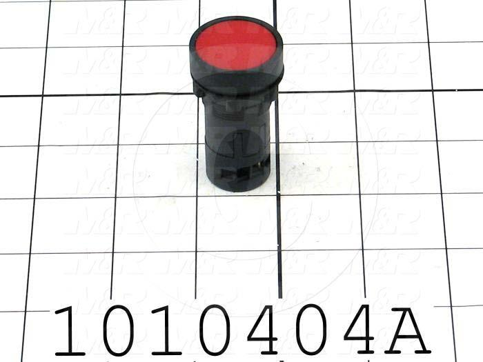 Pushbutton Switch, Unibody, Momentary, Round, 22mm, Red, 1NC
