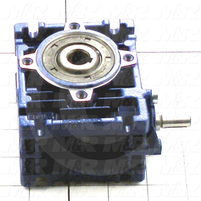 Reducers, Angle Type, Worm Type of Gears, 30:1 Ratio, Hollow Bore, 14 mm Output Diameter, Input Shaft, 9 mm Input Diameter
